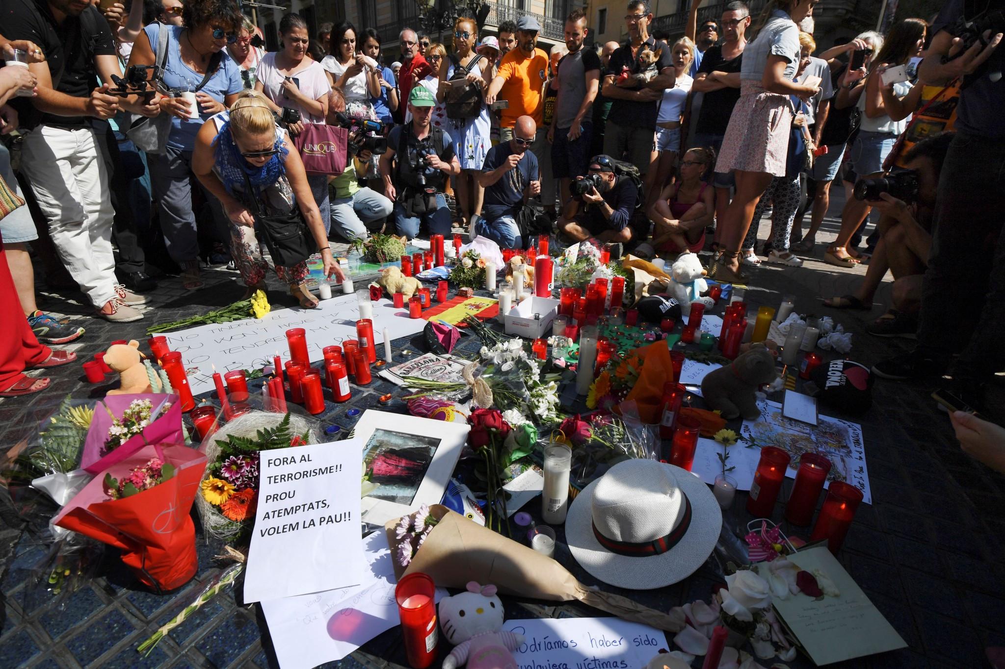 Bach says IOC condemn terrorists attacks in Spain