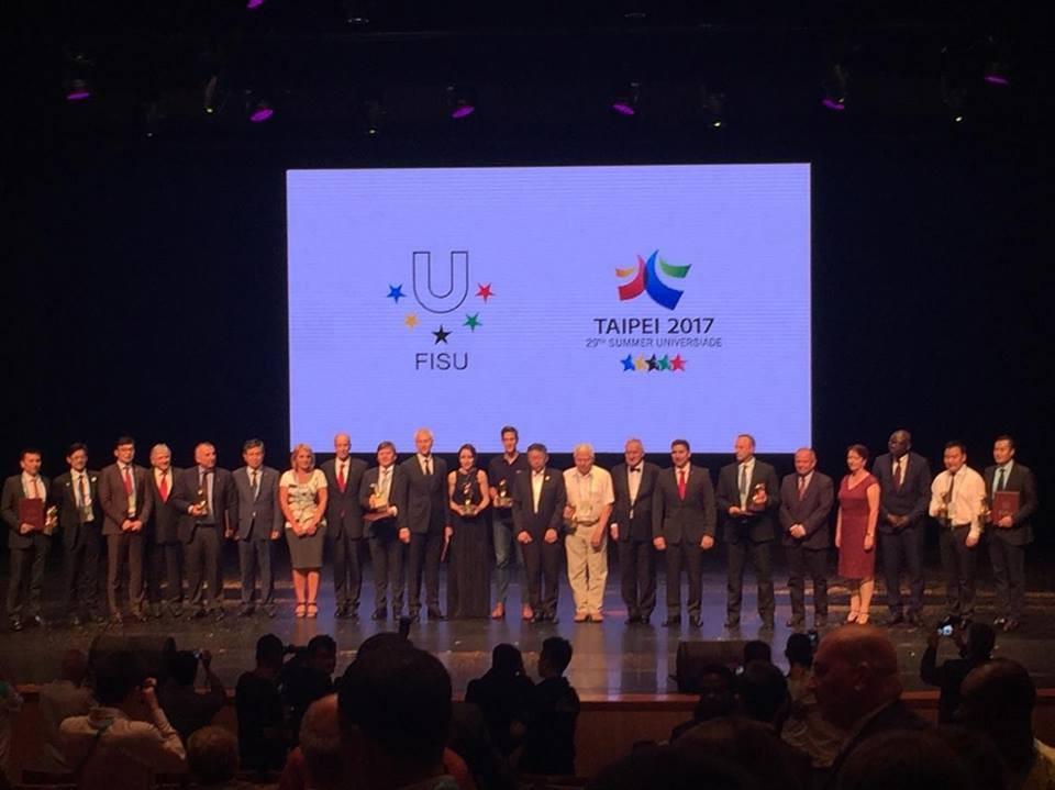 FISU Gala celebrates achievements of university sport on eve of Taipei 2017