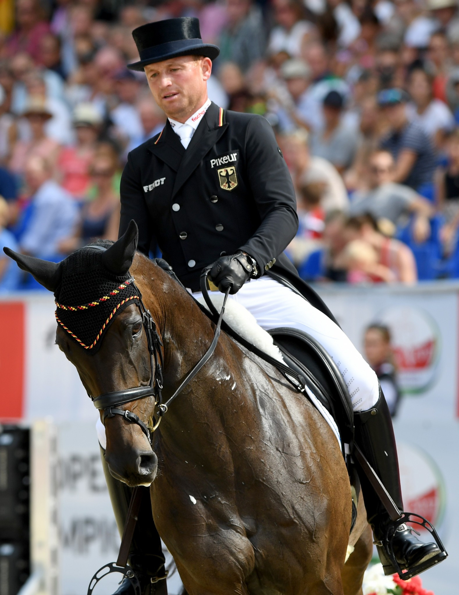 Germans compile record dressage score at FEI European Eventing Championships