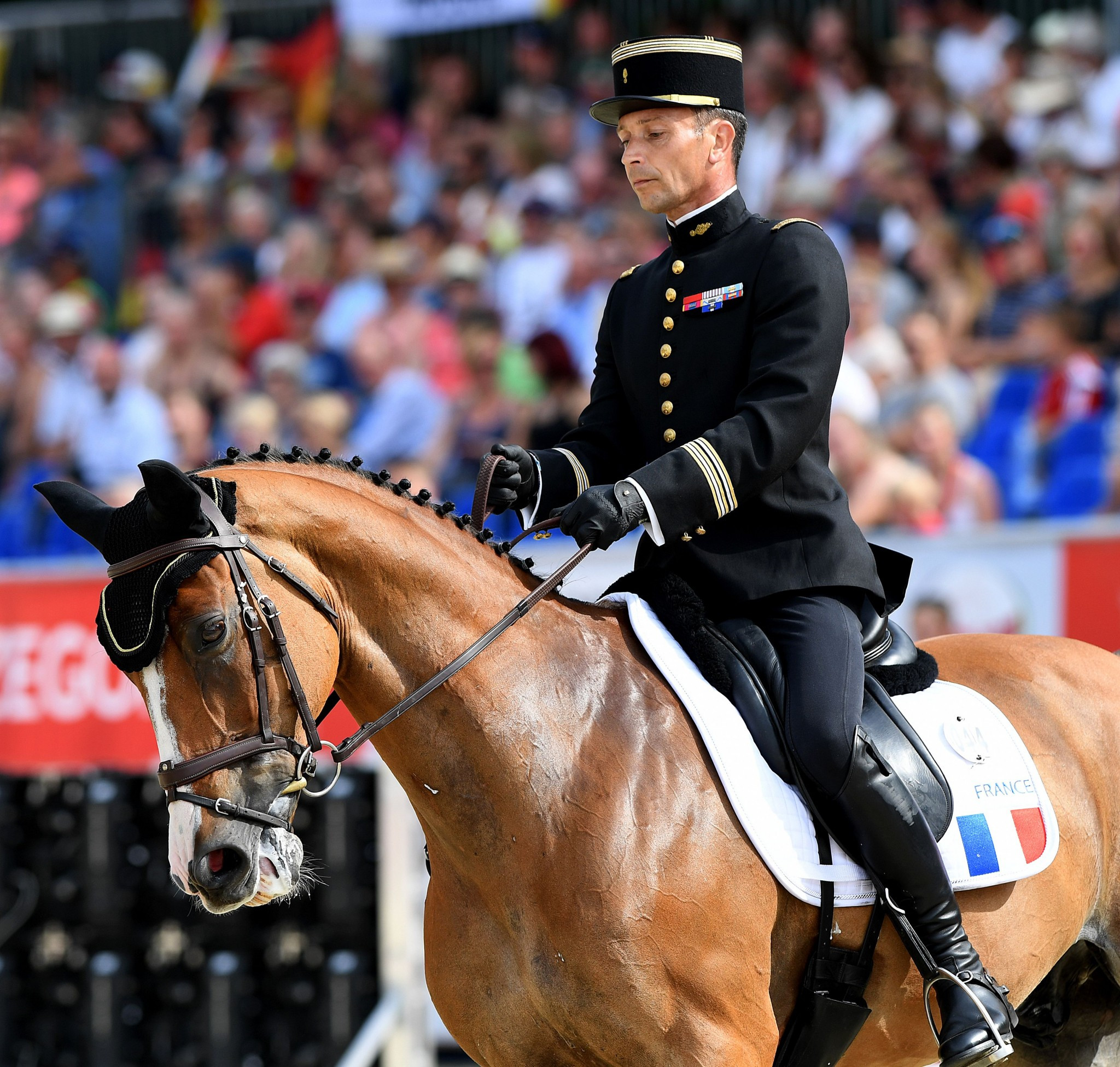 Thibaut Valette, one of the French gold medallists in the team eventing at last year's Rio Games, is eighth in the standings  ©Getty Images