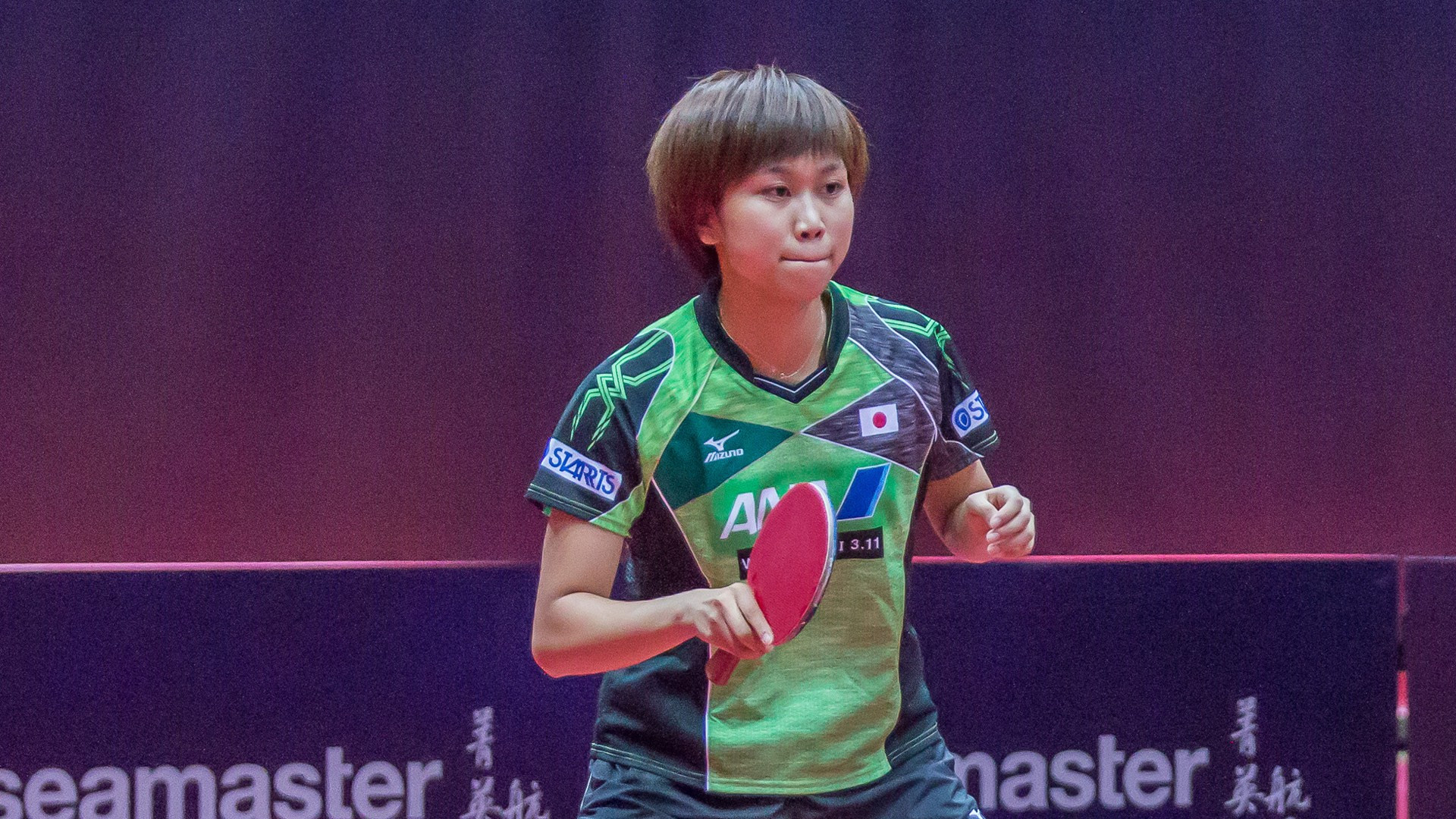 Hitomi Sato of Japan safely progressed in the women's tournament ©Chris Petkov/ITTF