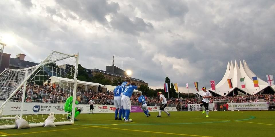 Opening match of IBSA European Football Championships halted due to severe thunderstorm