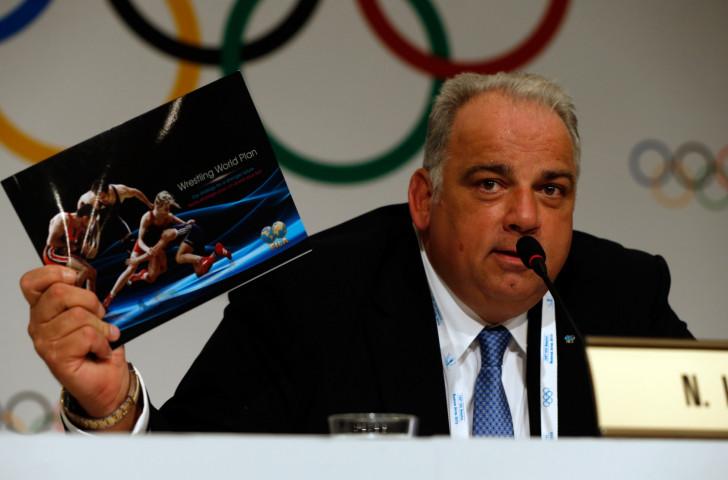 Nenad Lalovic speaking in defence of his sport's continuing Olympic status at the crucial 125th IOC Session in Buenos Aires in September 2013 ©Getty Images