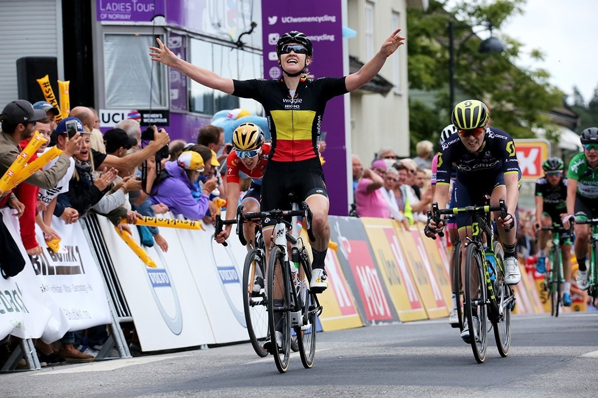 D'Hoore earns Ladies Tour of Norway lead after stage victory