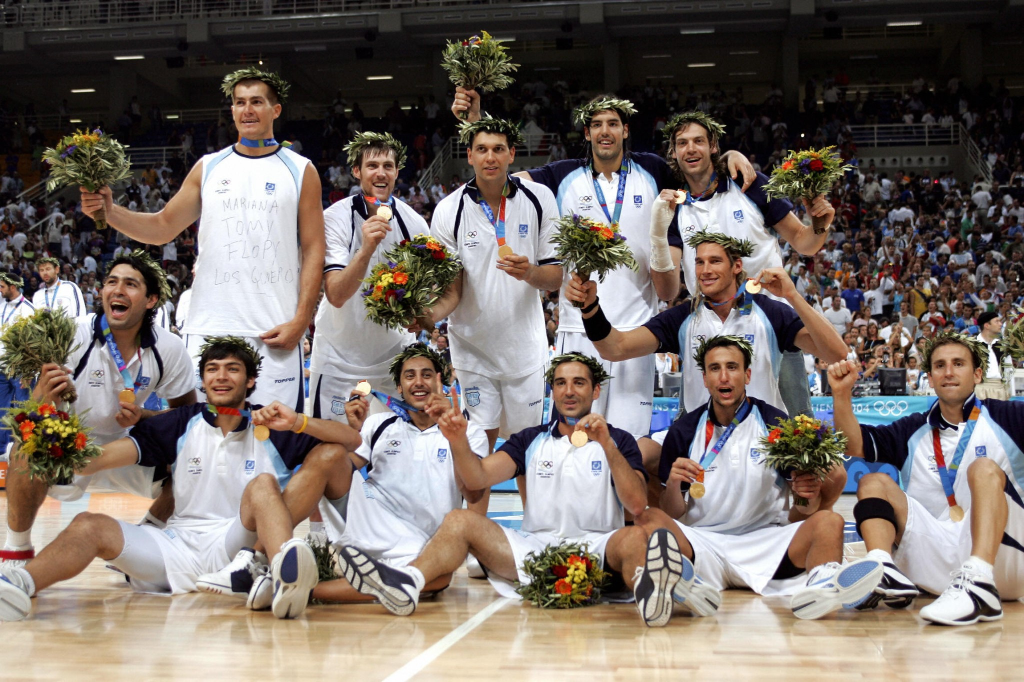Argentina claimed the men's basketball gold at Athens 2004 ©Getty Images