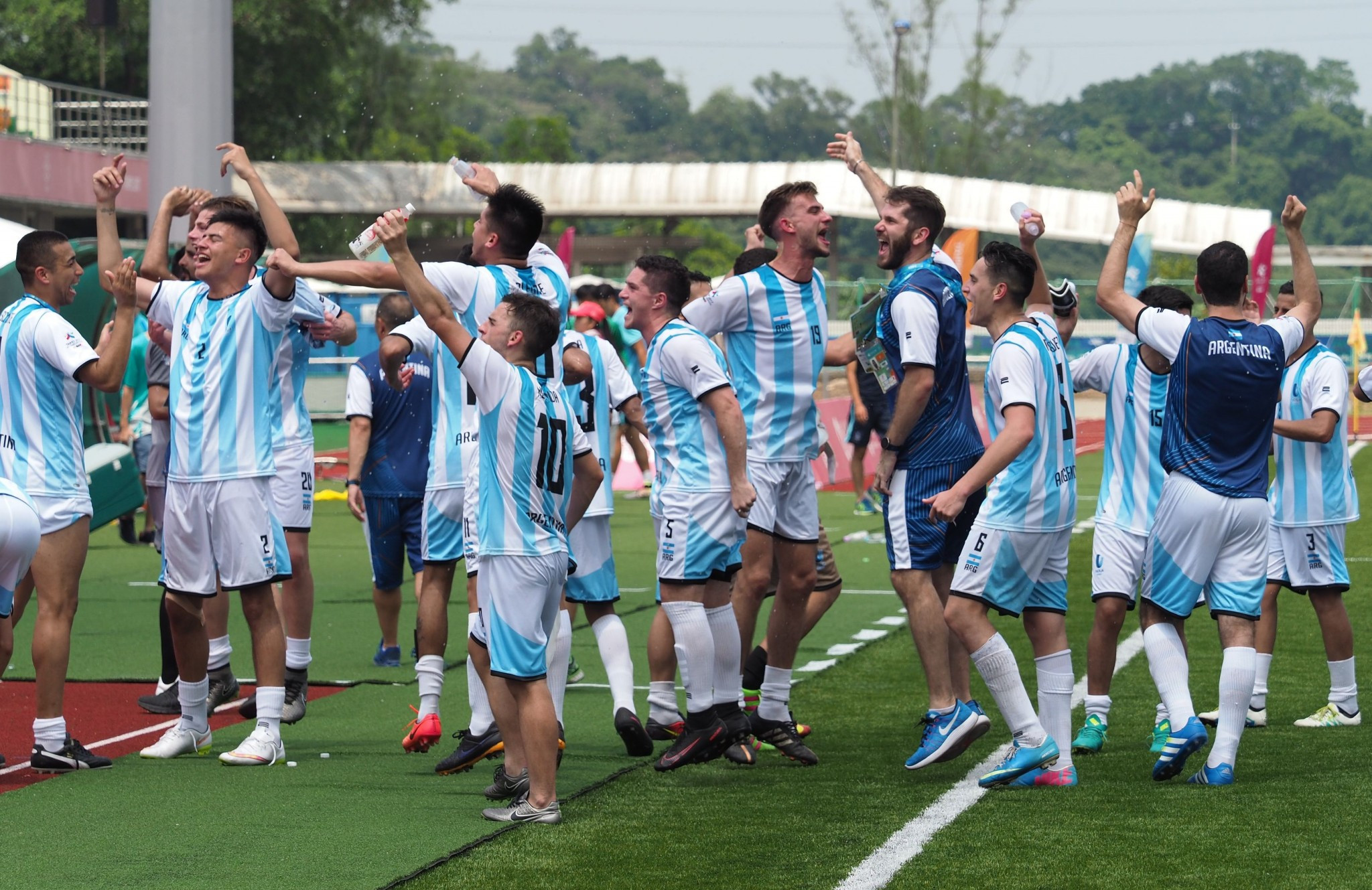 Argentina earned a late victory over South Korea in the men's football tournament ©Taipei 2017