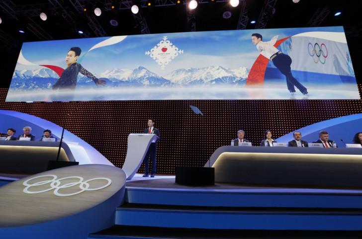 Sochi 2014 figure skating bronze medallist Denis Ten was among the speakers backing Almaty 2022 Sochi 2014 figure skating bronze medallist Denis Ten was among the speakers backing Almaty 2022 ©Getty Images