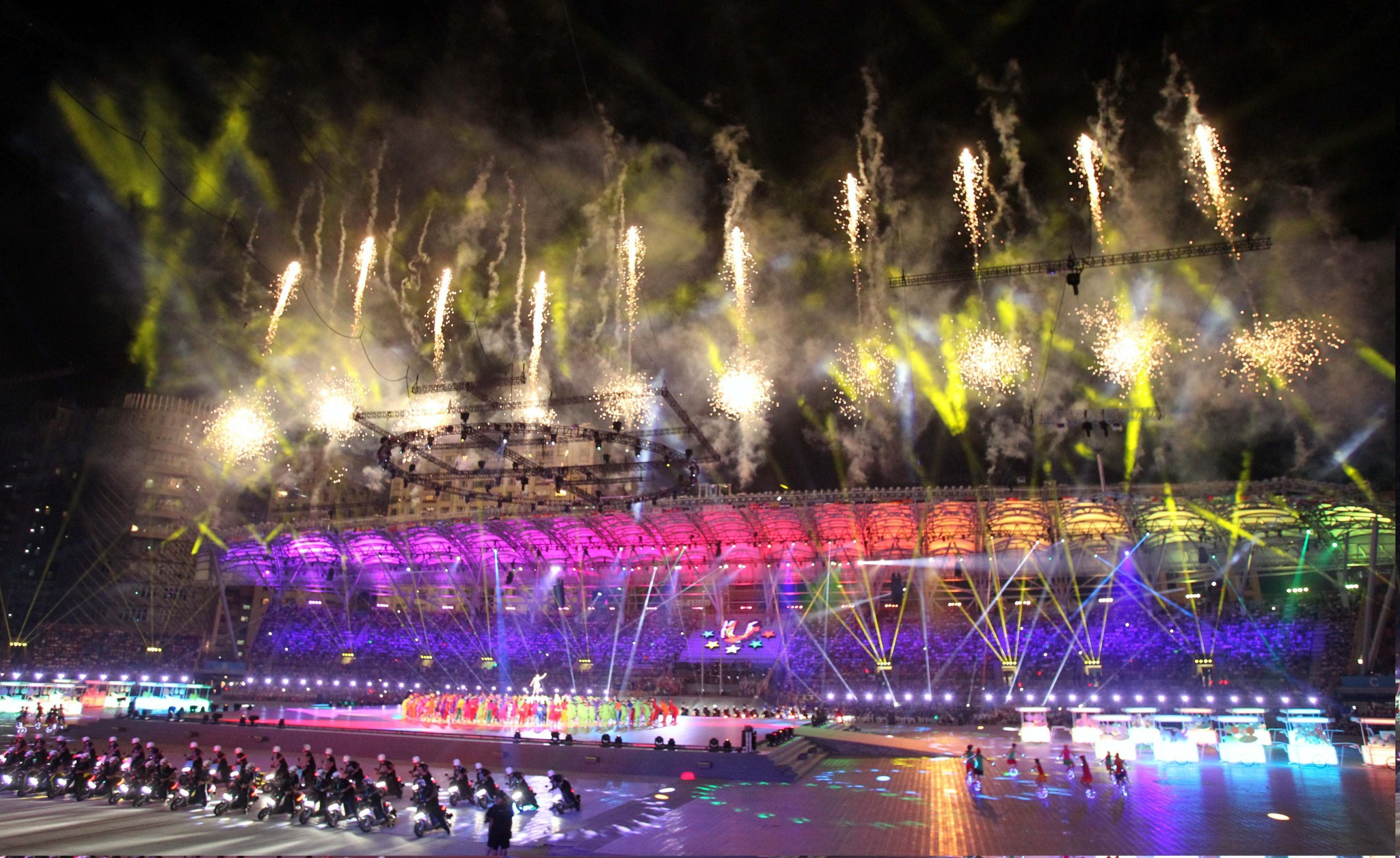 Dazzling Taipei 2017 Opening Ceremony briefly delayed by protests