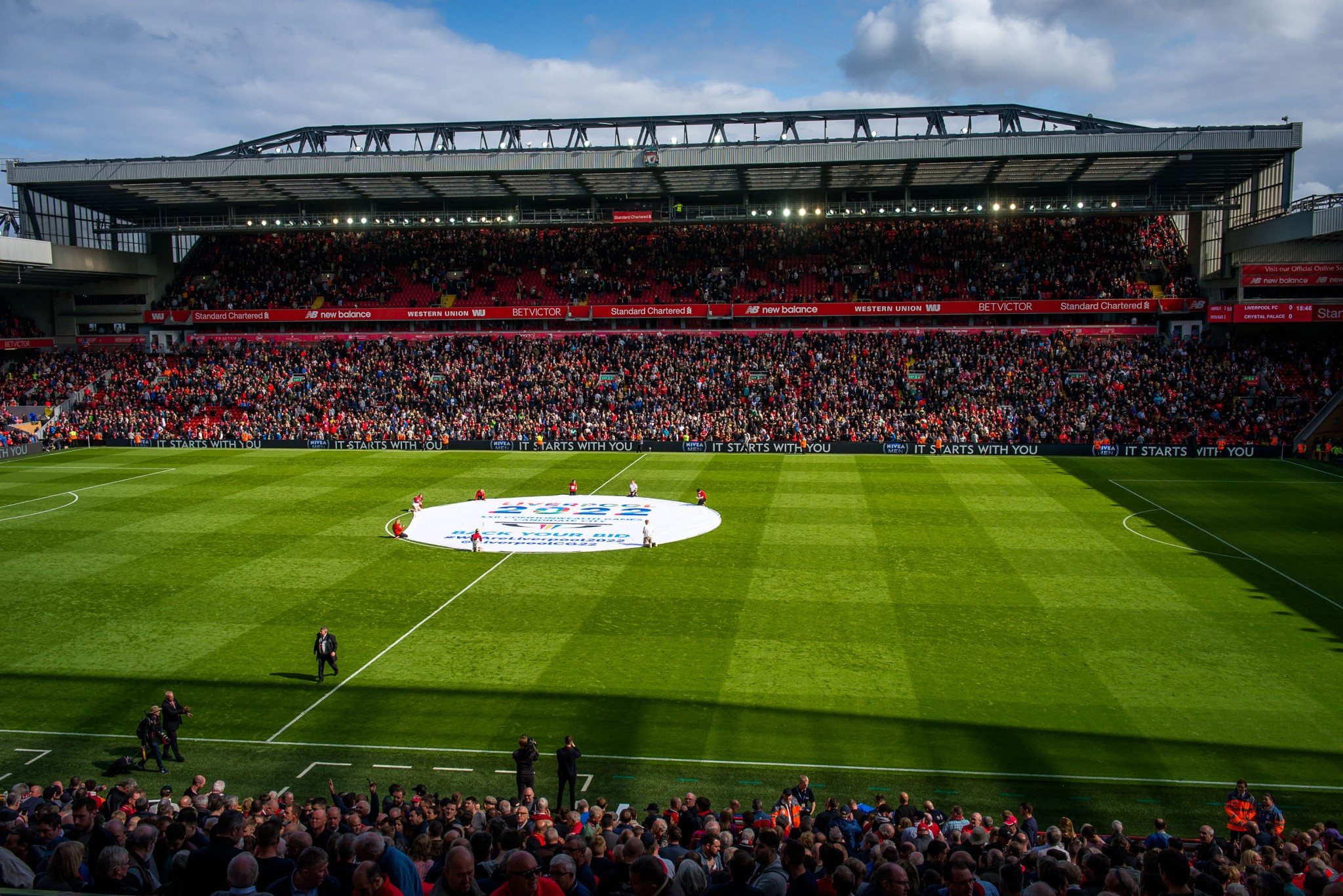 Anfield was another venue where the Baton was taken during the day ©Liverpool 2022