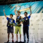 Jan Hojer was a popular home winner on the night at the IFSC World Bouldering Cup in Munich ©IFSC