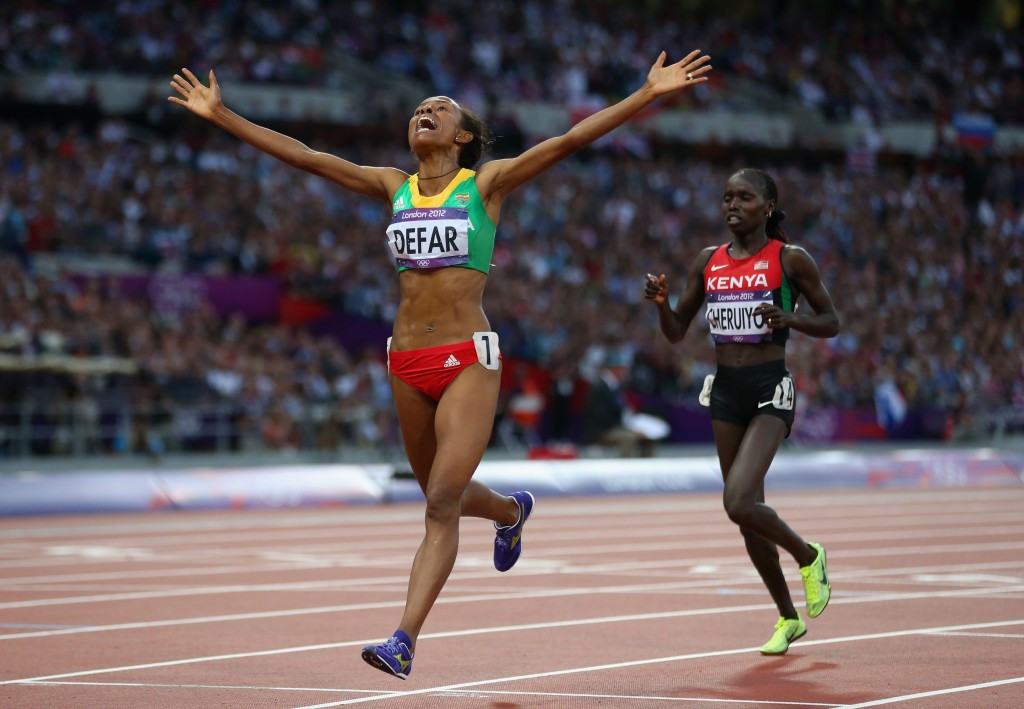 Meseret Defar was one of three Ethiopian gold medallists at London 2012 ©Getty Images