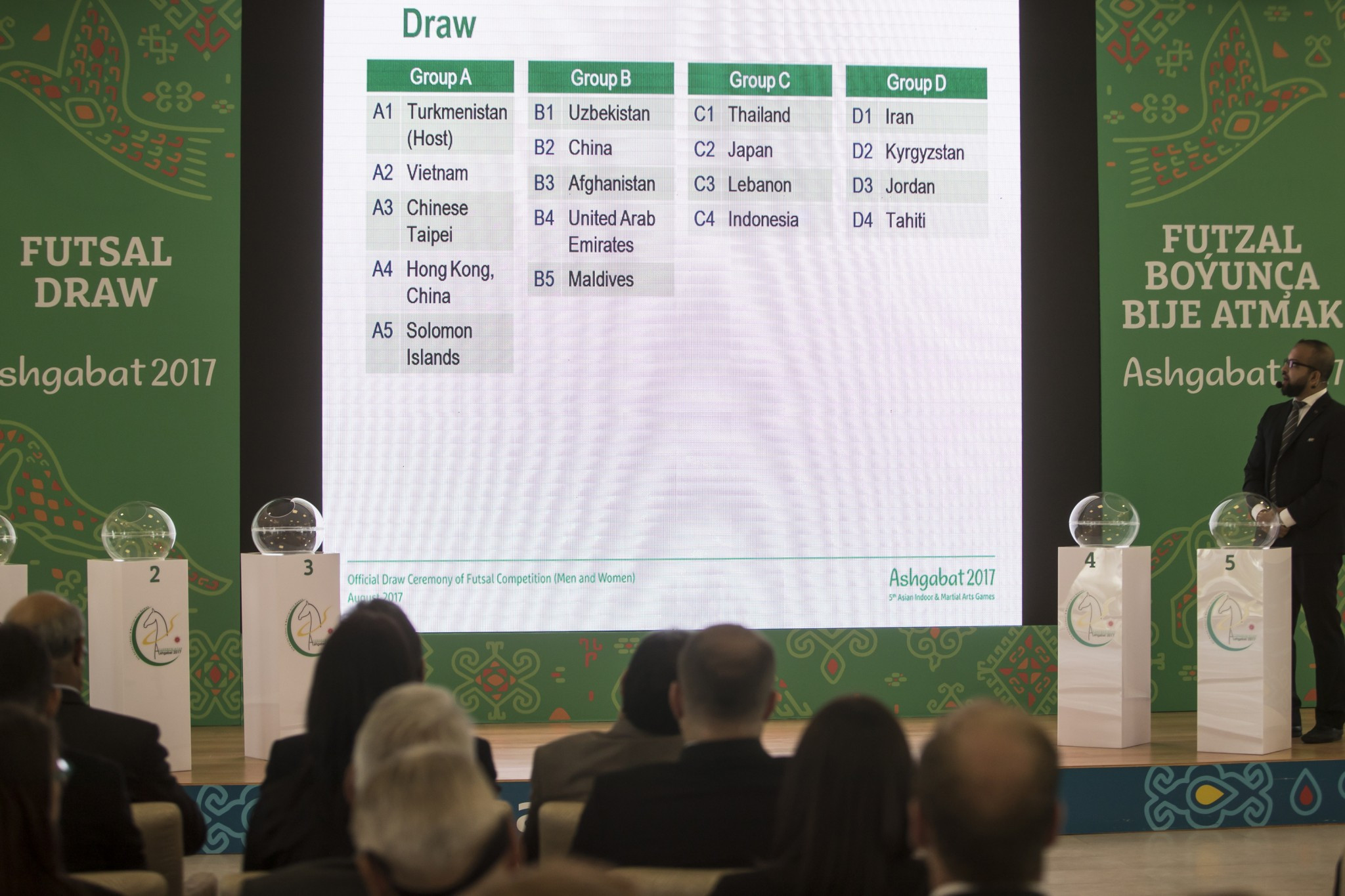Organisers have conducted the draw for the futsal tournament ©Ashgabat 2017