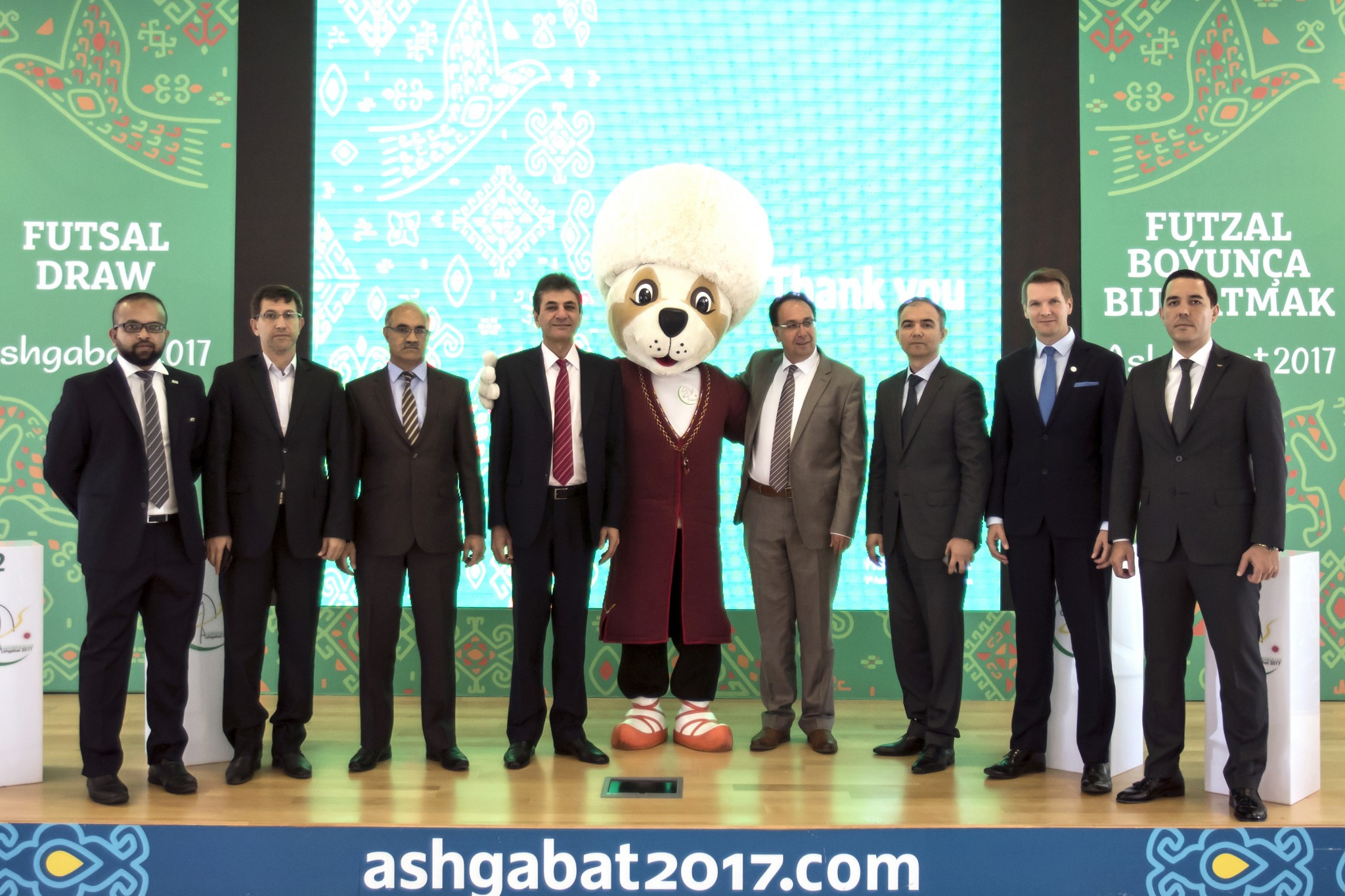 The draw was conducted at the Ashgabat 2017 headquarters ©Ashgabat 2017