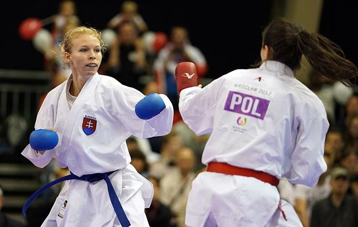 Slovakia's Ingrida Suchankova heads the women's kumite under 61kg rankings ©WKF
