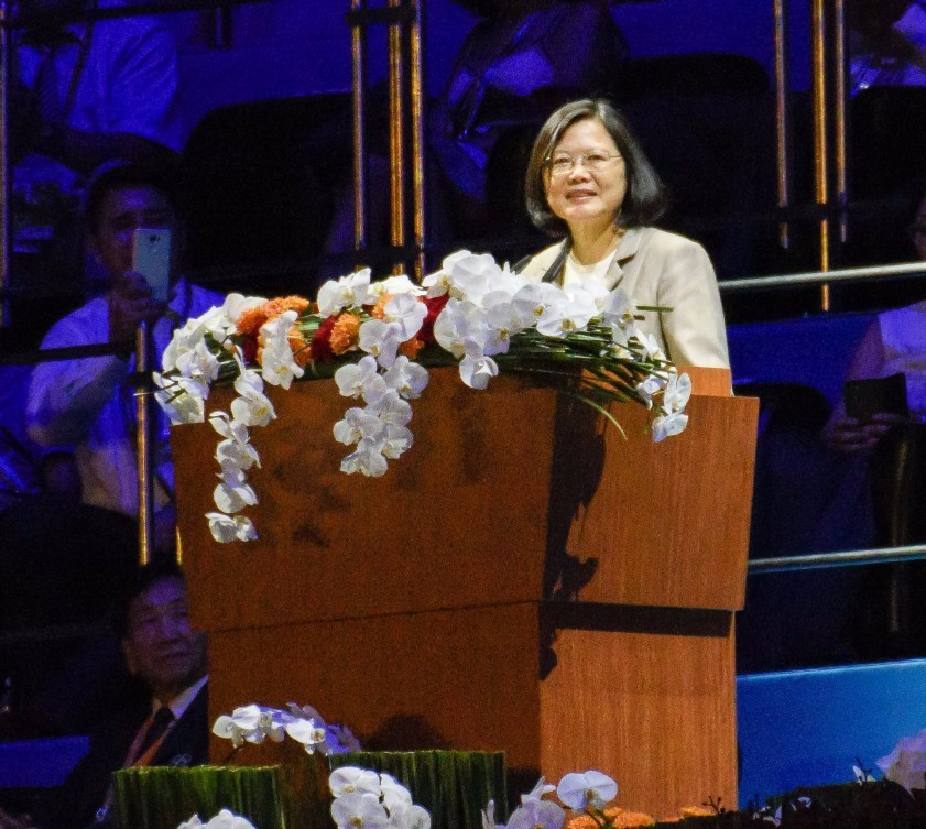 The Taipei Mayor suggested the protests had been aimed to disrupt Taiwan President Tsai Ing-wen's entrance ©Taipei 2017