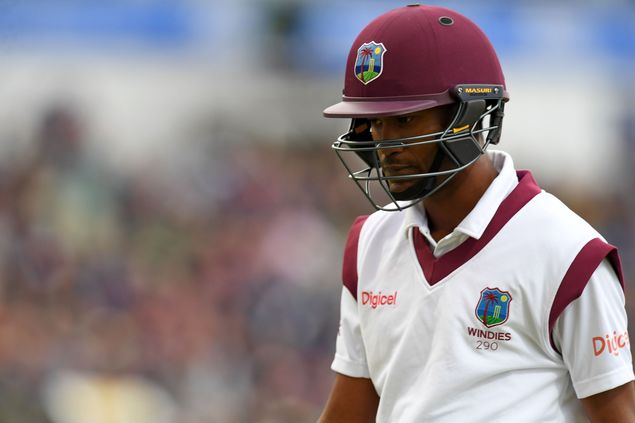 Kraigg Brathwaite took no wickets in the six overs he bowled against England in Birmingham ©Getty Images