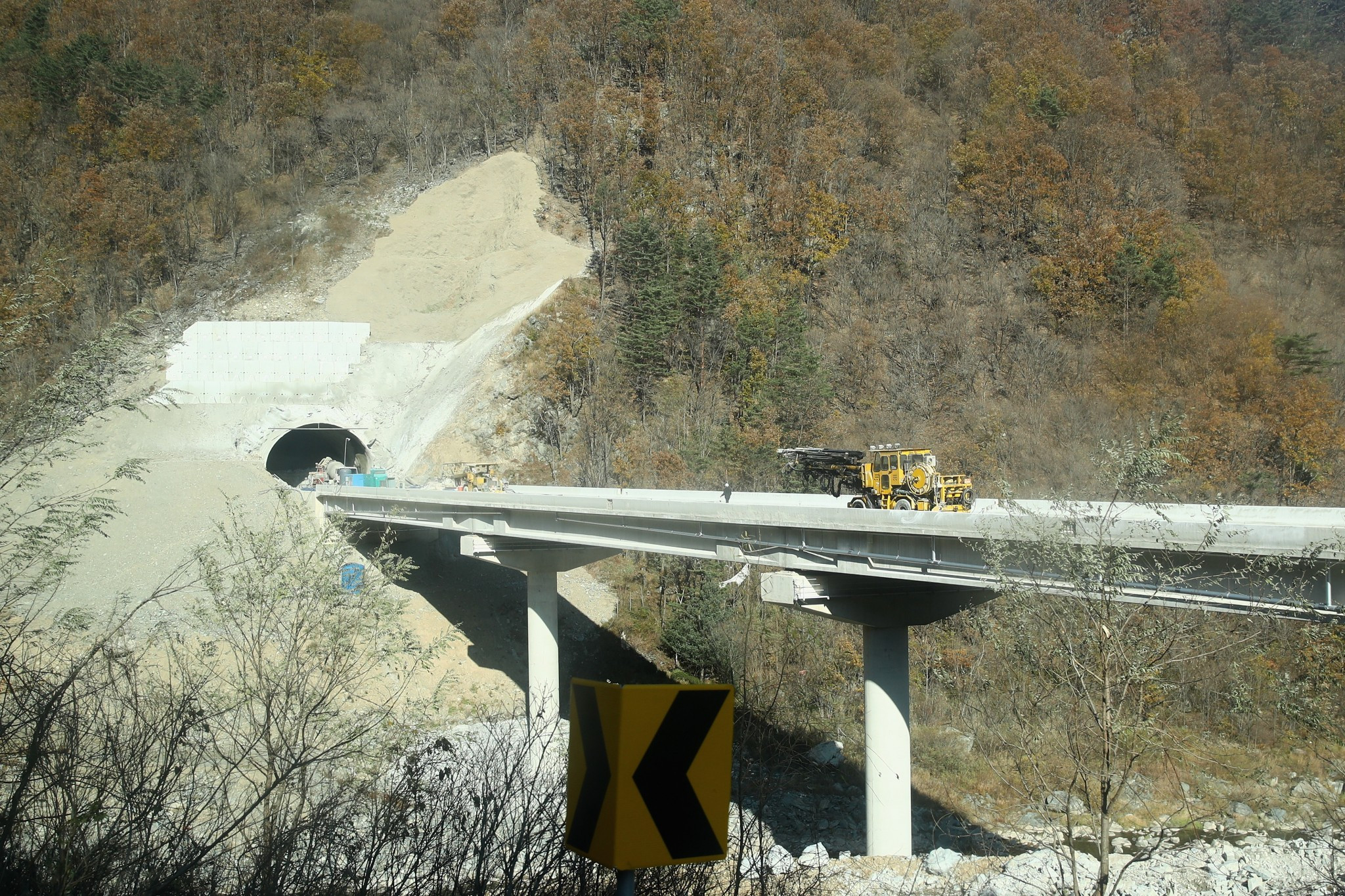 Work on new highways and railroads for Pyeongchang 2018 reaches final stage