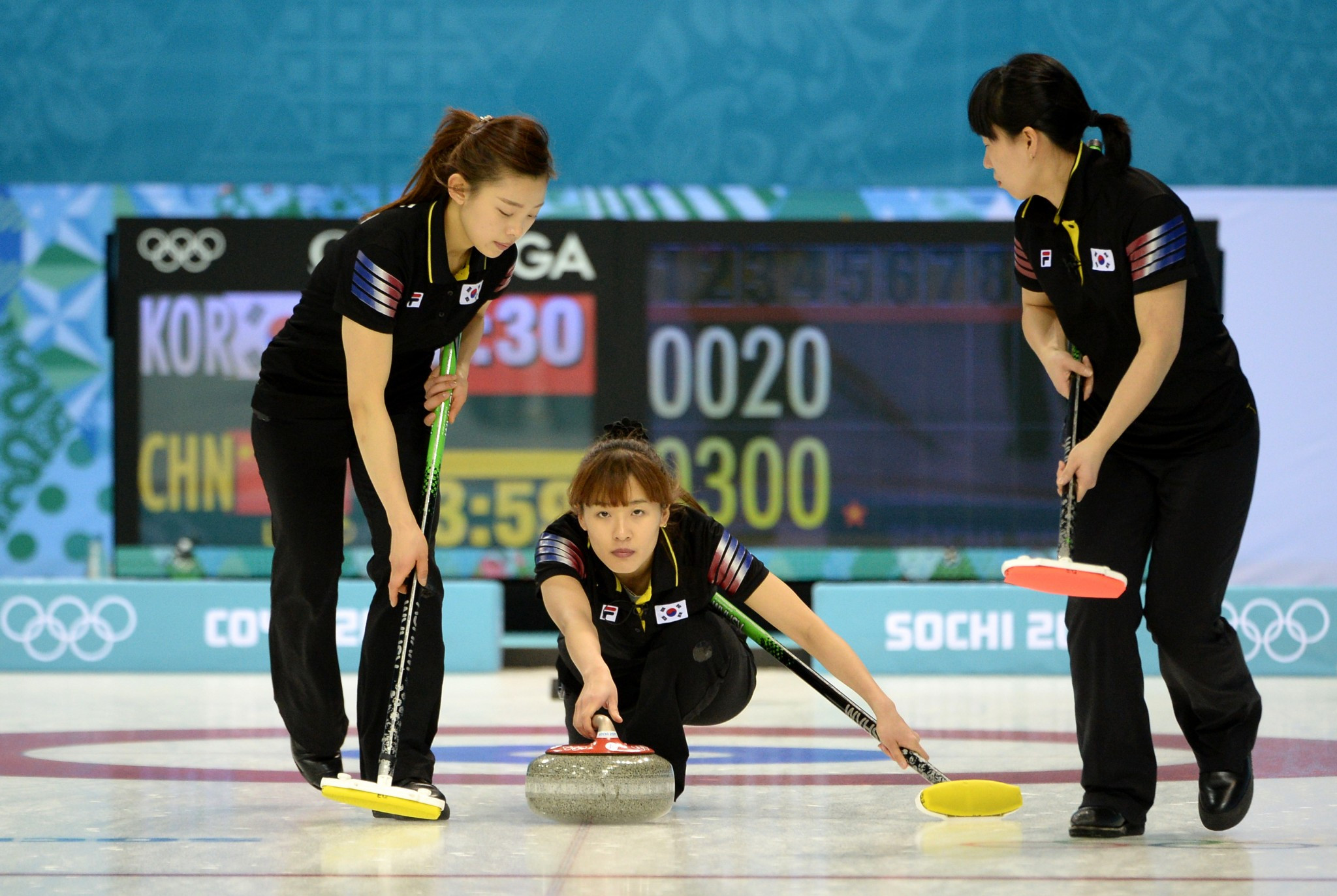 South Korea made their first appearance in curling at the Winter Olympics when the women's team featured at Sochi 2014 ©Getty Images