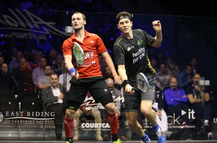 France's world number one Gregory Gaultier, left, will play Australia's Cameron Pilley in the first round ©PSA