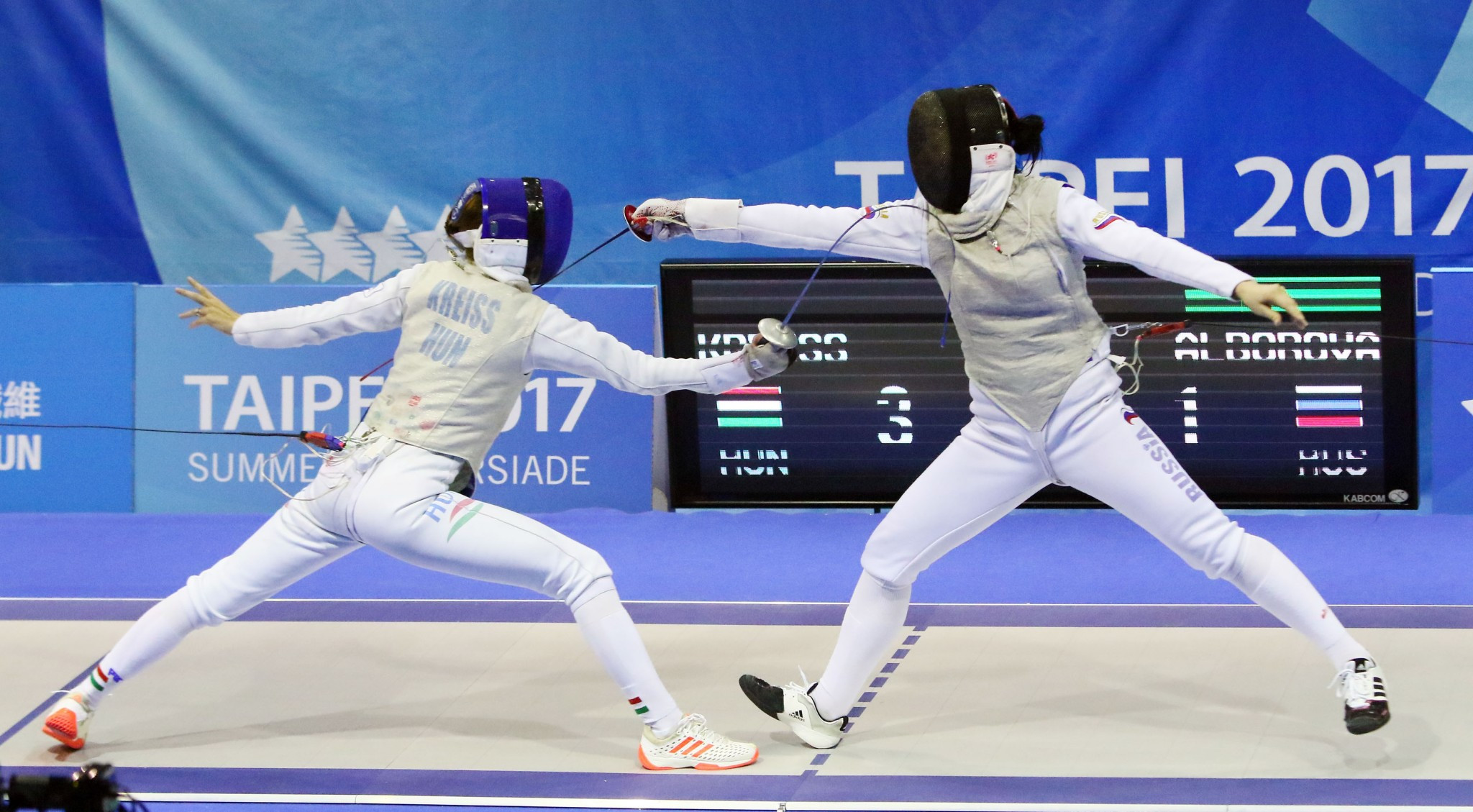 Mixed fortunes for Russian fencers in finals at Taipei 2017