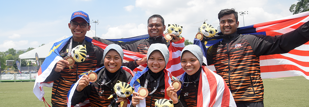 Hosts Malaysia won both the men's and women's recurve archery team events today ©Kuala Lumpur 2017
