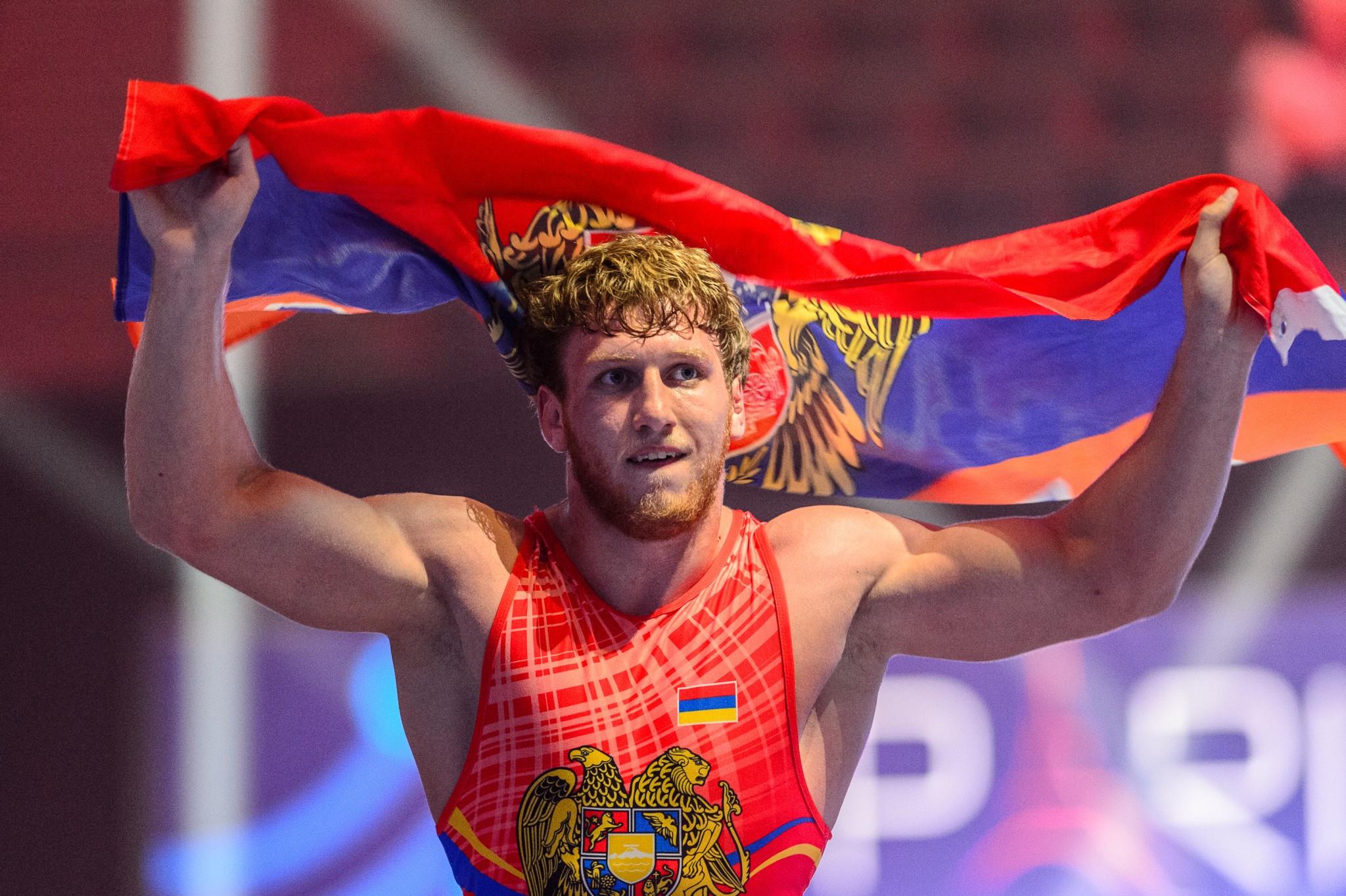 Artur Aleksanyan won his third straight Greco-Roman 98kg title ©UWW