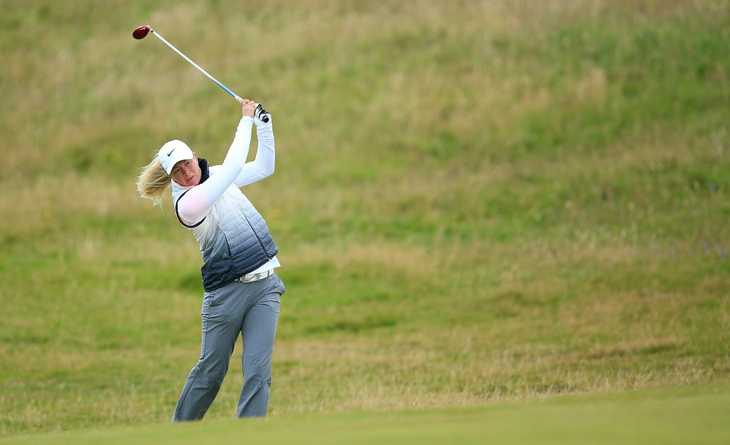 Pettersen takes two-shot lead at Women's British Open as blustery conditions see rivals falter