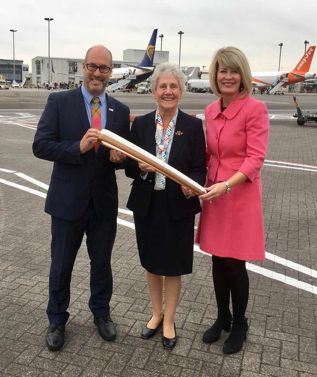 The Gold Coast 2018 Queen's Baton Relay arrived in Scotland today ©Glasgow Airport/Twitter