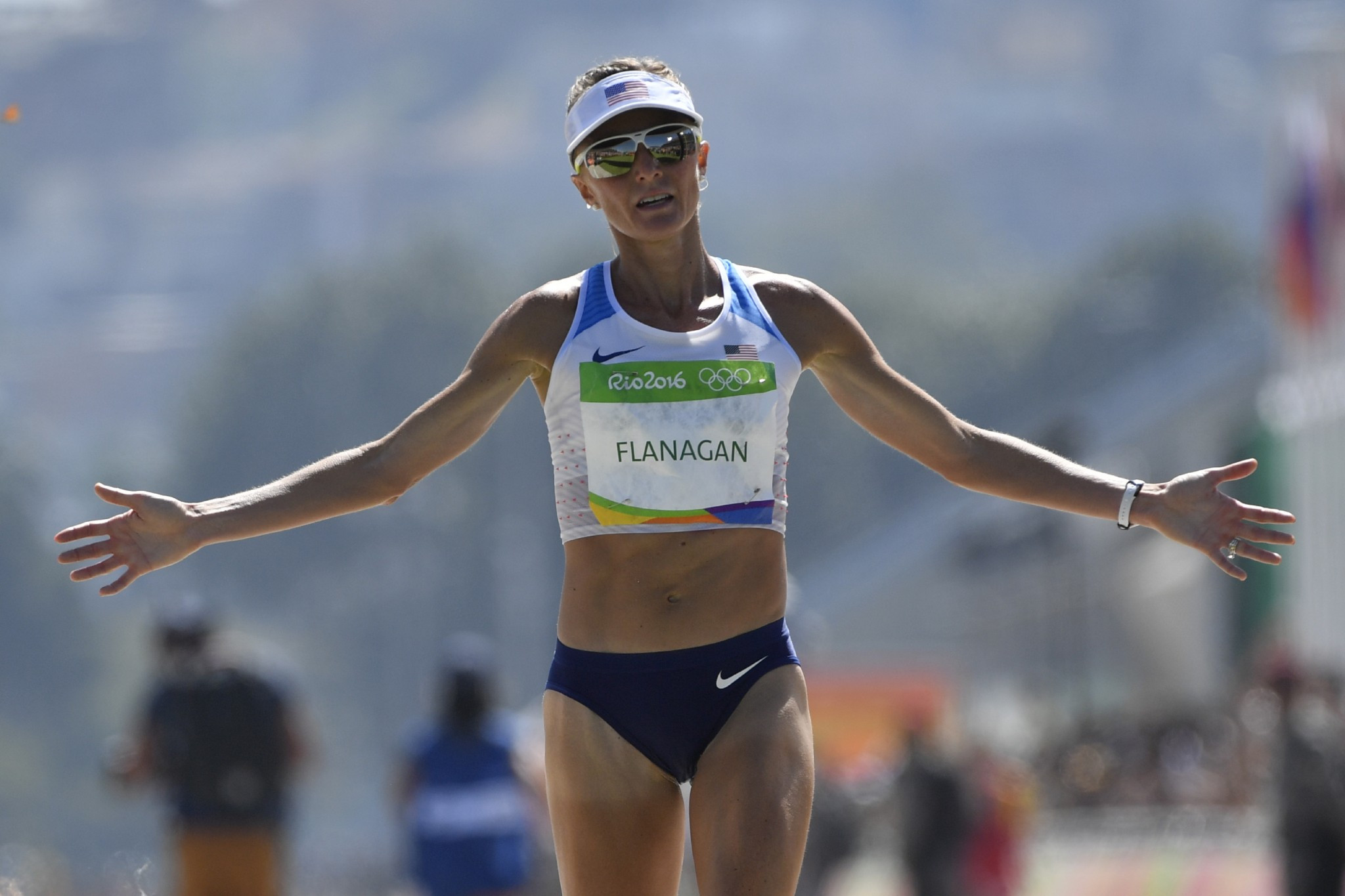 Shalane Flanagan, pictured finishing sixth in the Rio 2016 marathon, has been retrospectively awarded the silver medal from the Beijing 2008 10,000m ©Getty Images