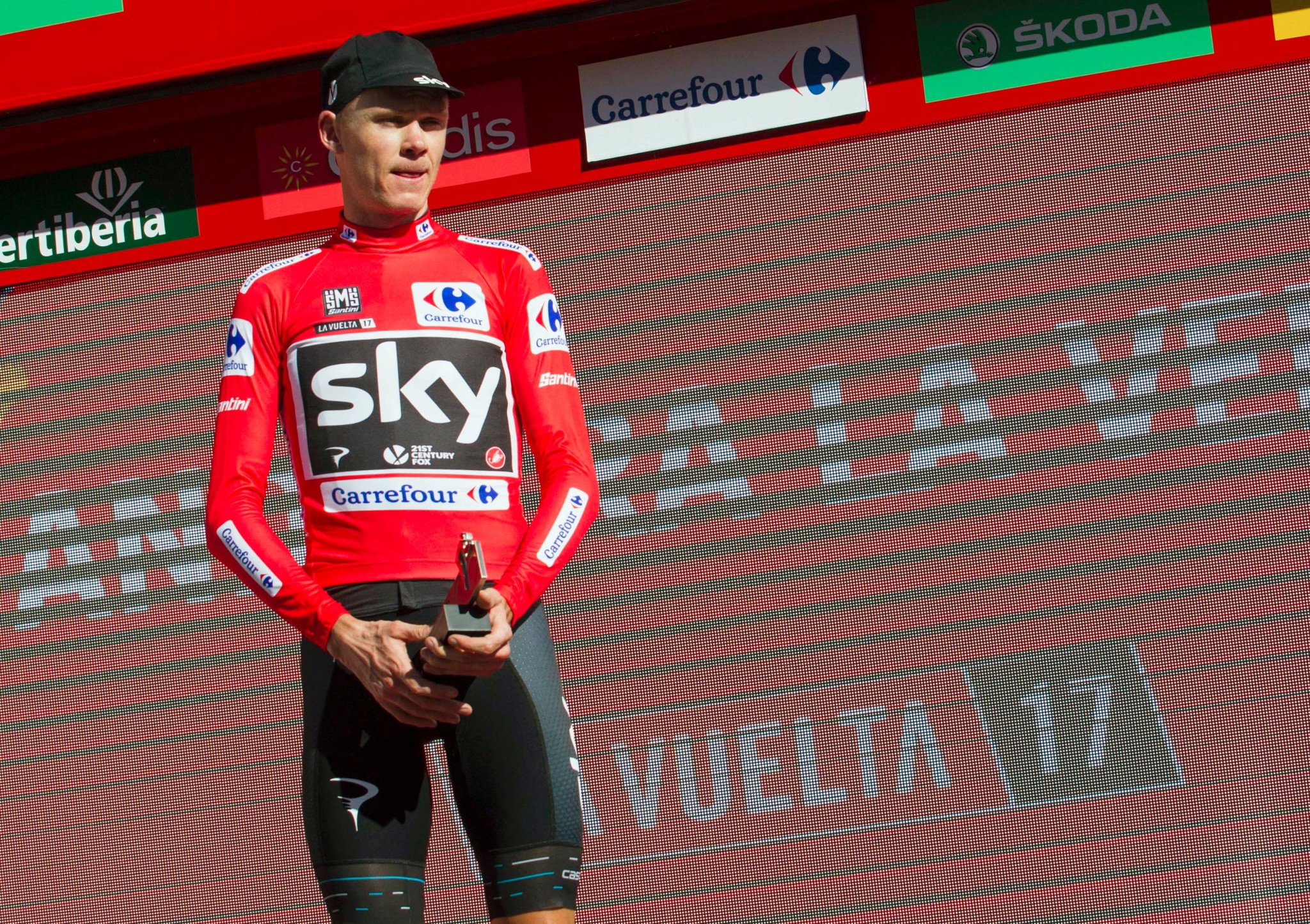 Chris Froome has kept hold of the leader's red jersey at the Vuelta a Espana ©Getty Images