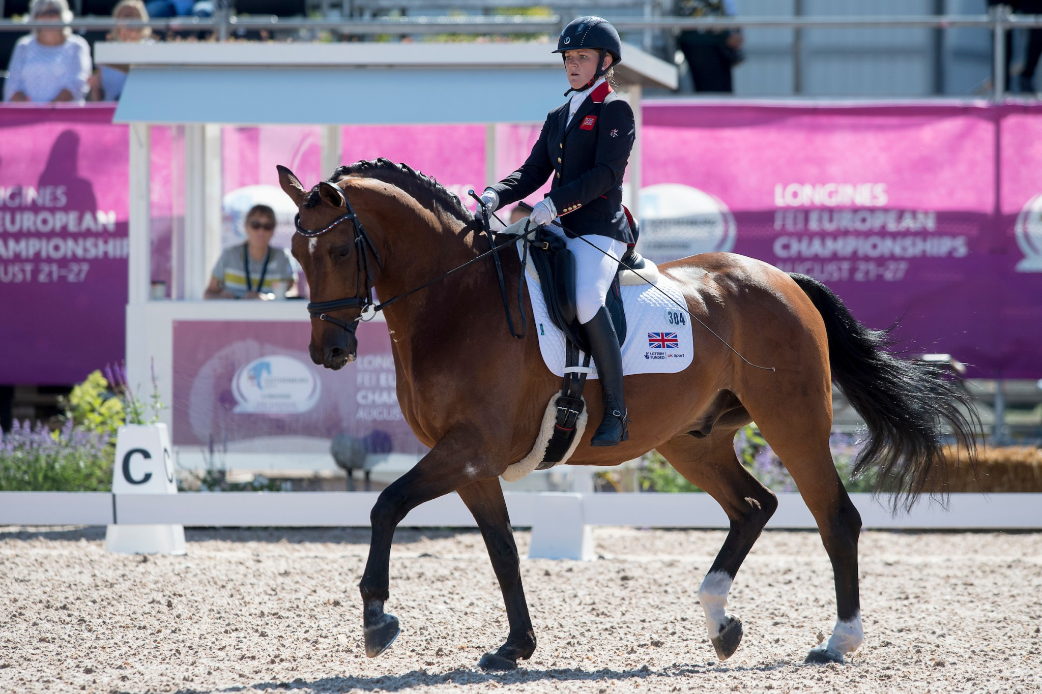 Suzanna Hext was one of the three riders appearing in their first European Championship for the British team ©British Equestrian Federation/Jon Stroud Media