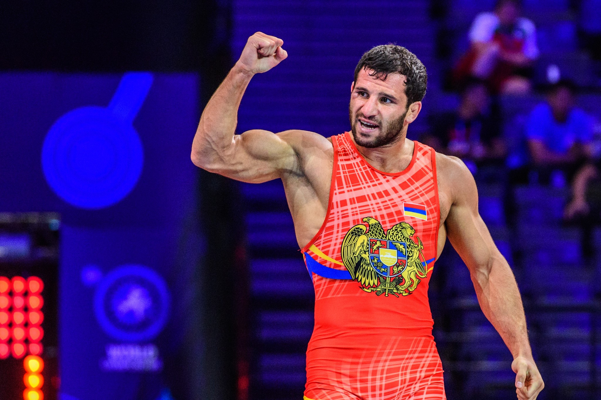 Maksim Manukyan triumphed in the 80kg competition ©UWW