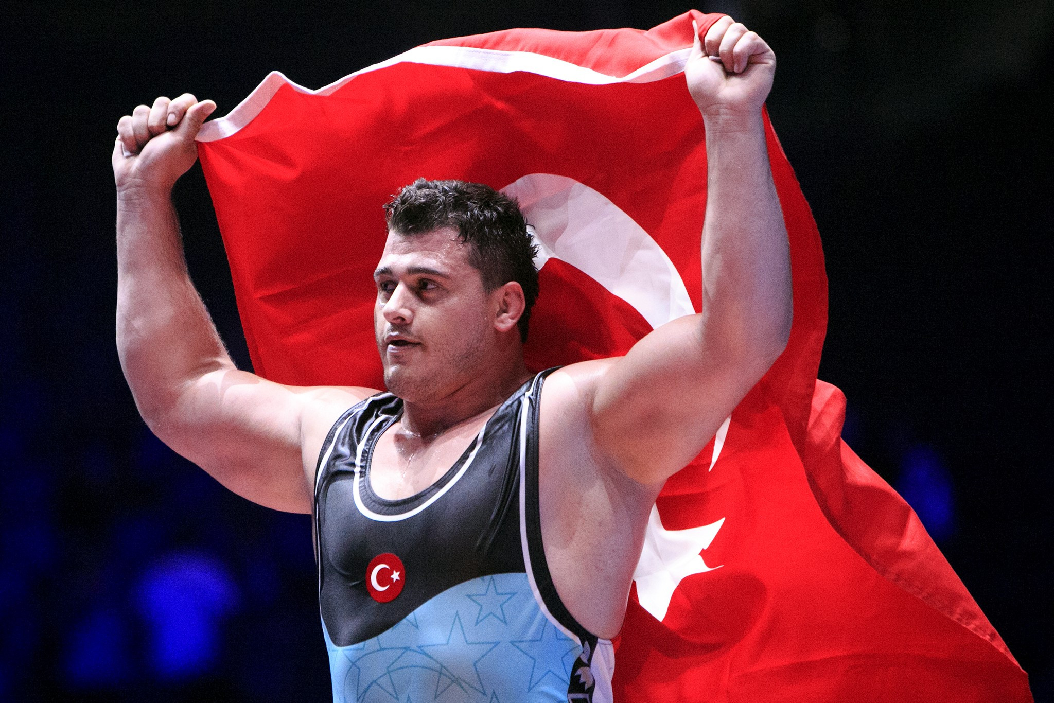 Riza Kayaalp of Turkey was among the star perforners on day two ©UWW