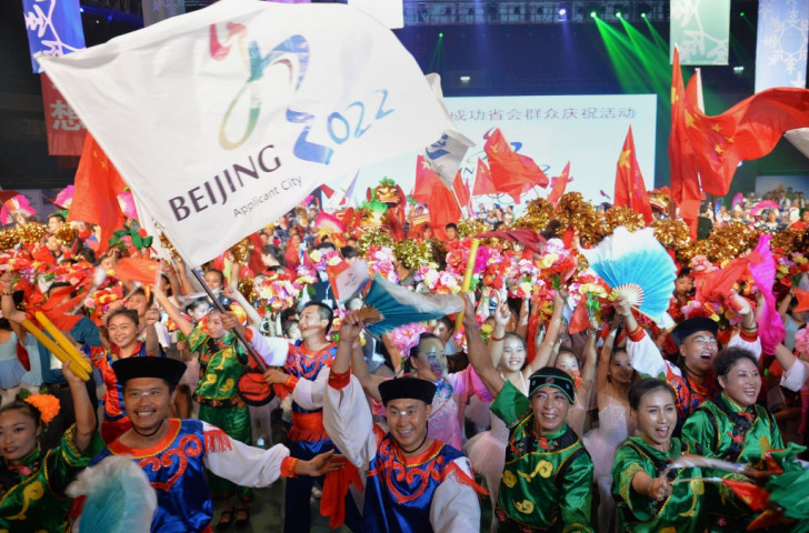 Celebrations as Beijing is awarded 2022 Winter Olympics and Paralympics ©Getty Images