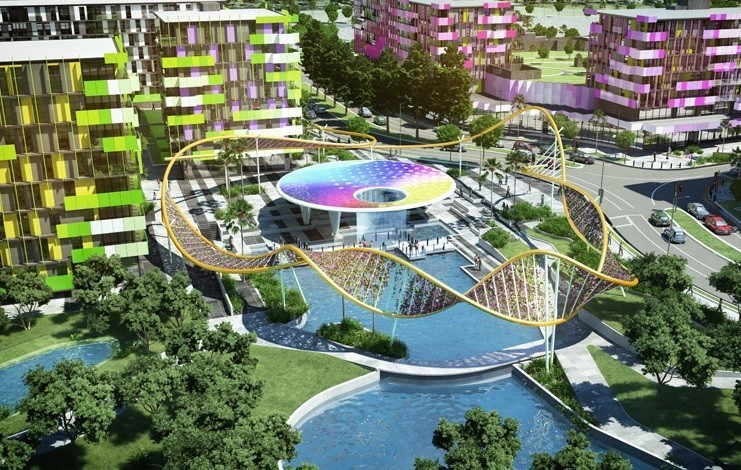 The Gold Coast 2018 Commonwealth Games Village will be located in the Parklands region of the city ©Queensland Government