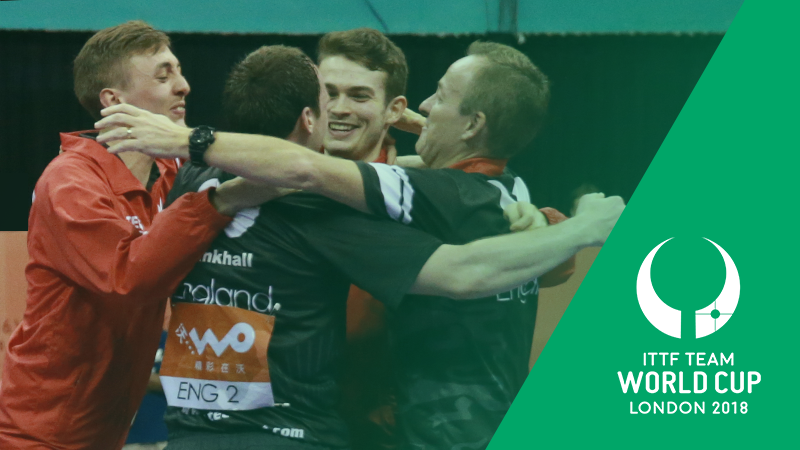 ITTF award 2018 Team World Cup to London