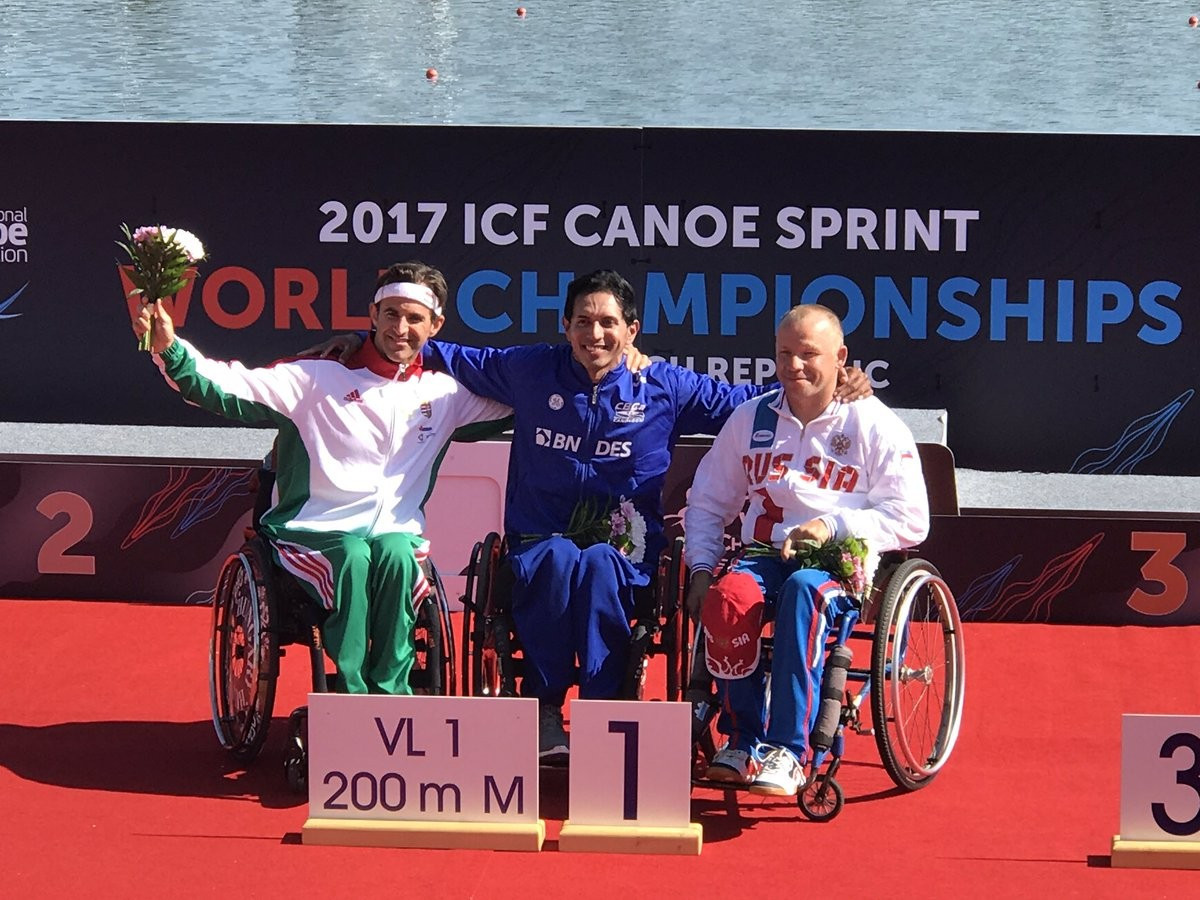 Brazilian paddler claims first gold at ICF Para-Canoe World Championships