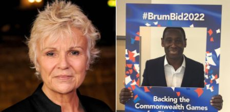 Hollywood stars Harewood and Dame Julie Walters among latest backers of Birmingham 2022