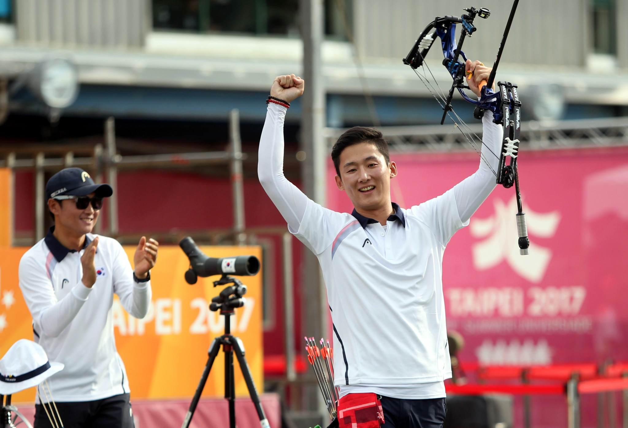 South Korea seal four archery golds on sublime day at Taipei 2017