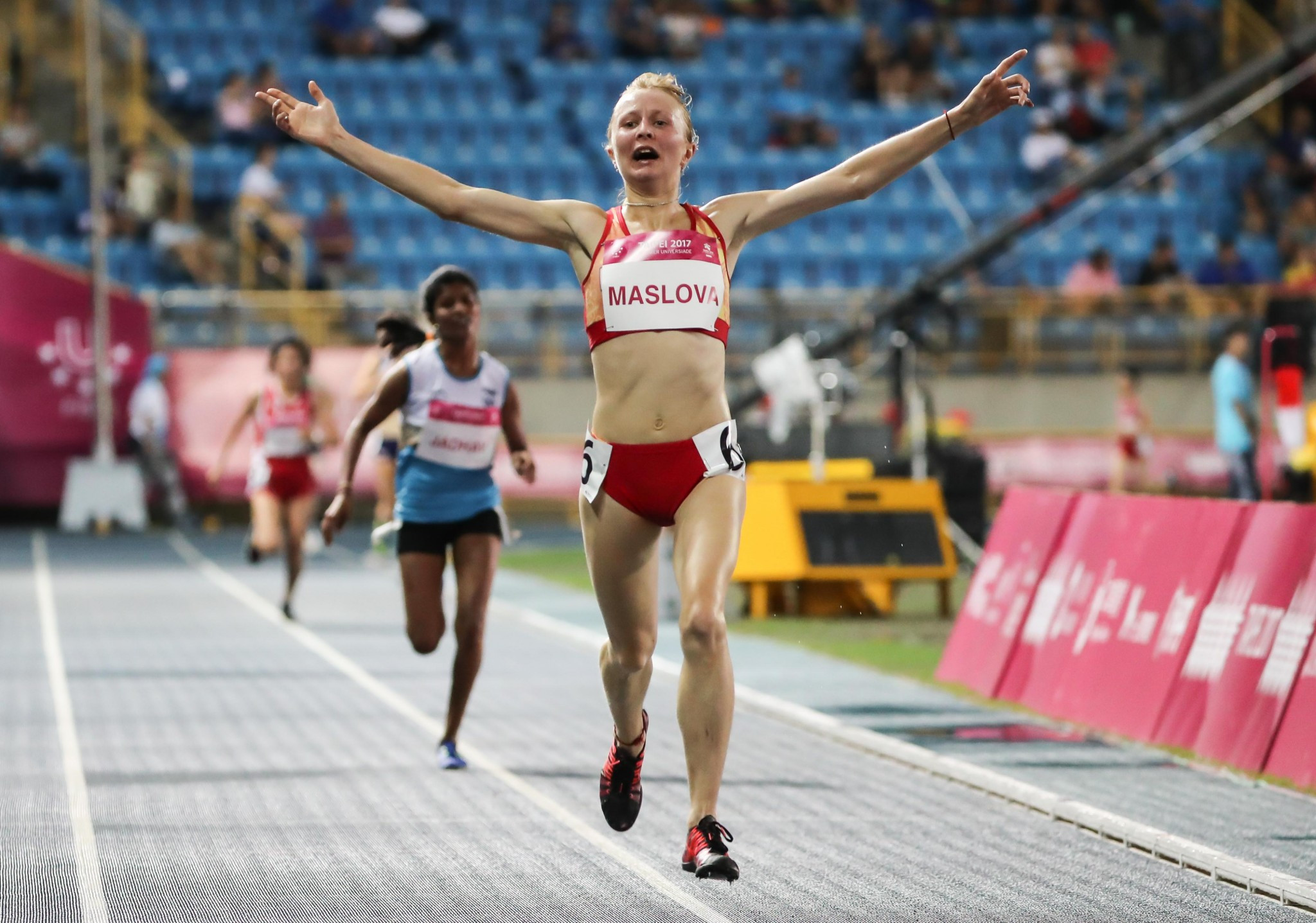 Daria Maslova won the women's 10,000m gold medal ©Taipei 2017