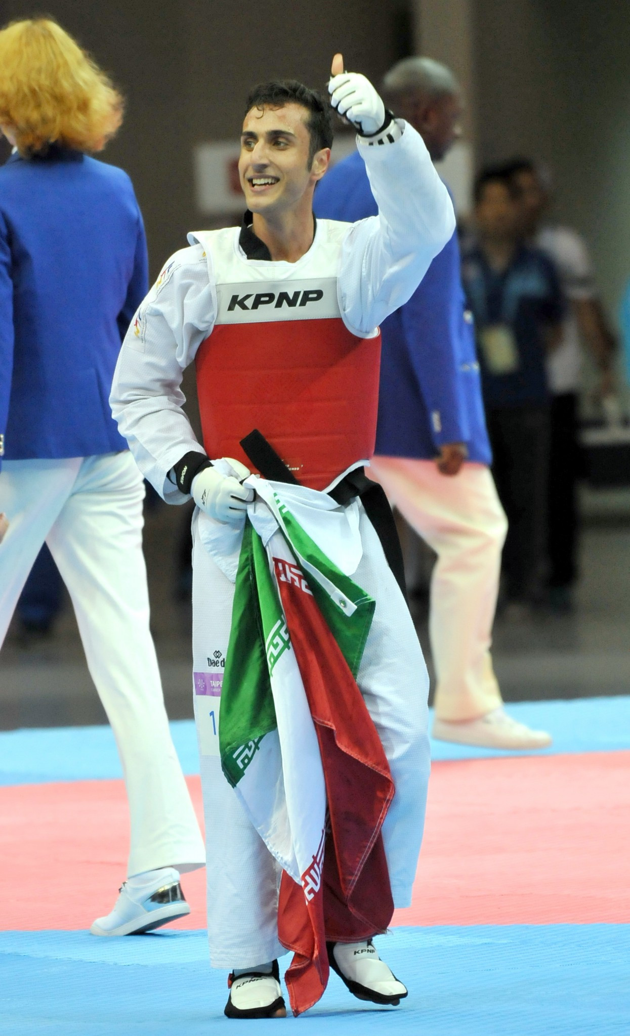 Hadi Tiranvalipour won the men's under 58kg taekwondo event ©Taipei 2017
