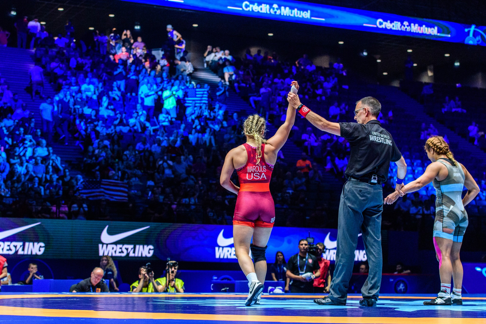 Helen Maroulis was the star performer on day three in Paris ©UWW