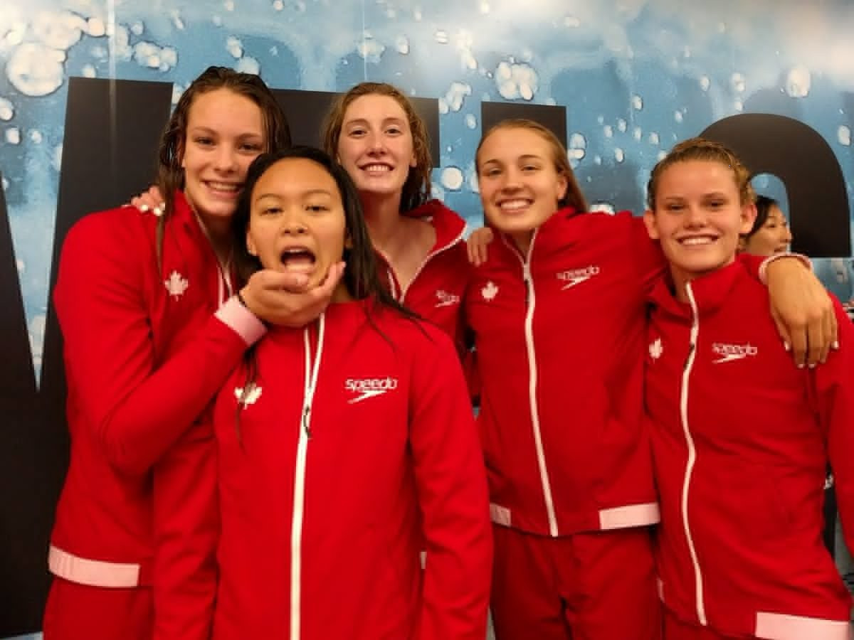 Oleksiak leads Canada to world record breaking relay success at FINA World Junior Swimming Championships