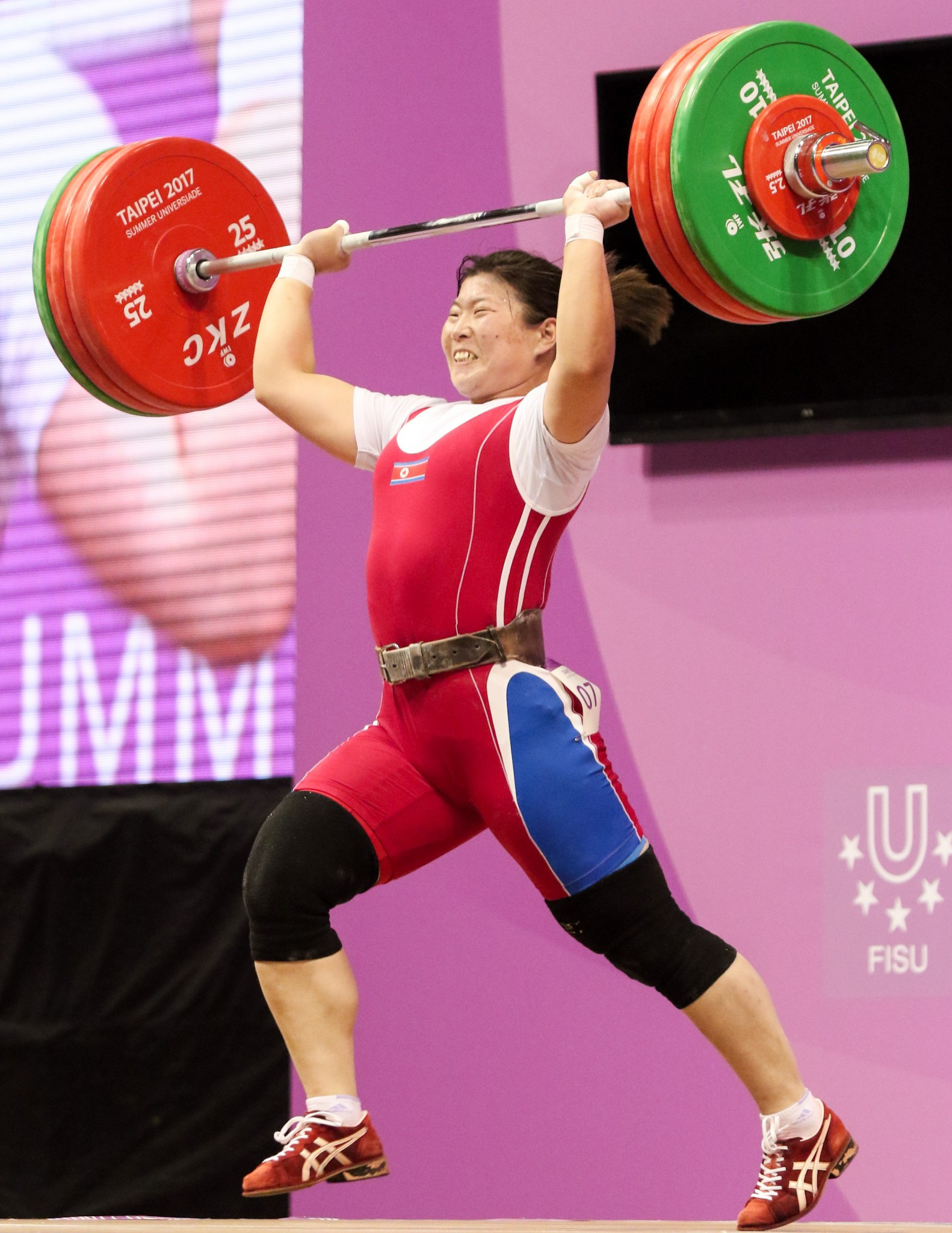 Rim Jong Sim claimed yet another weightlifting gold medal for North Korea today ©Taipei 2017
