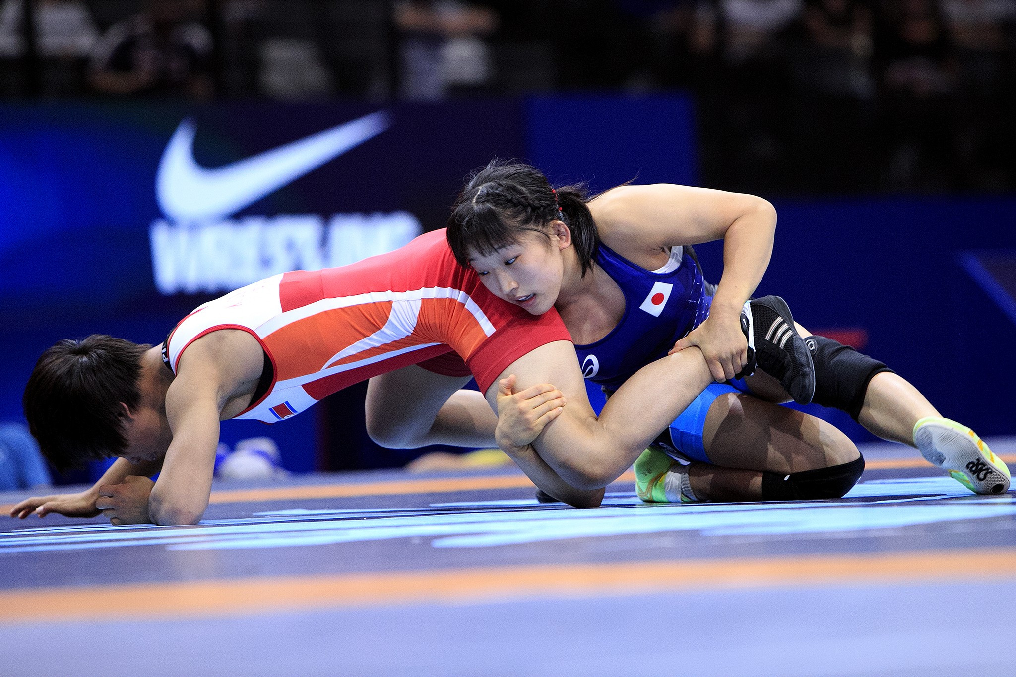 Yui Susaki topped the podium in the 48kg category to claim Japan's second gold medal of the day ©UWW