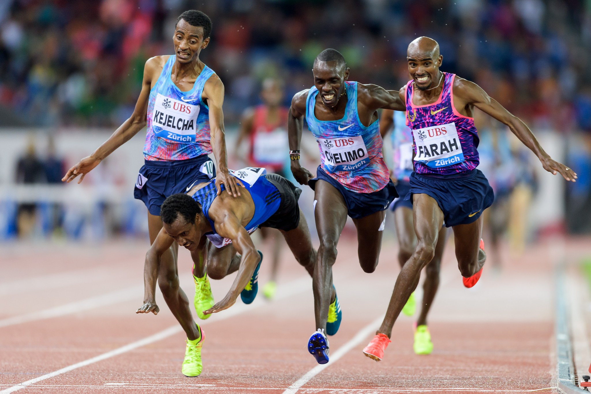Farah's closest race? The 34-year-old Briton ended his track career with a - narrow - win at the IAAF Diamond League final in Zurich ©Getty Images