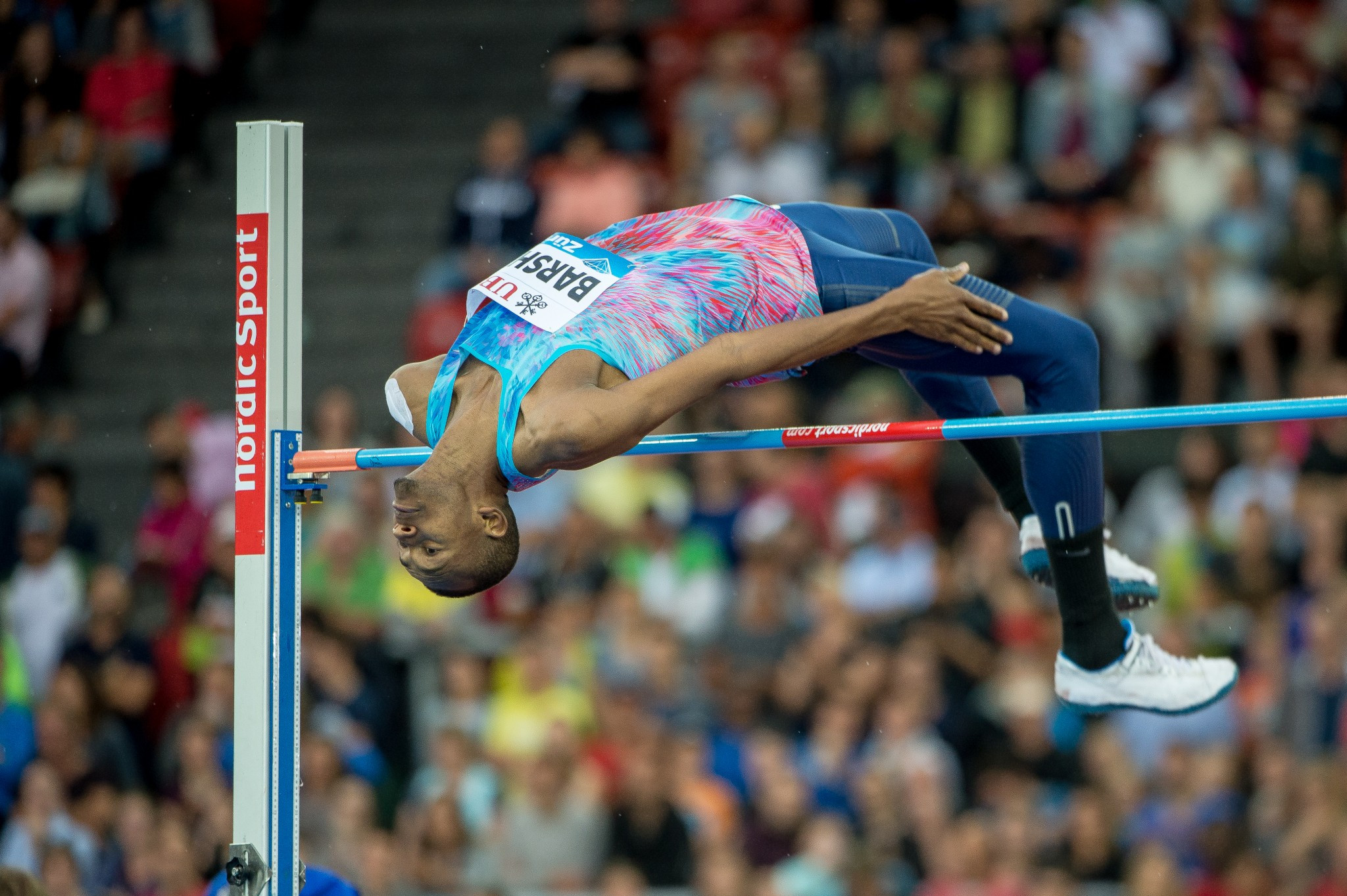 Qatar's Mutaz Essa Barshim was an easy winner of the high jump ©Getty Images