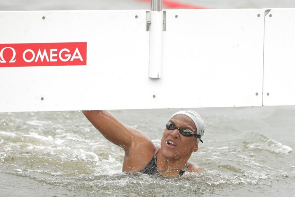 Brazil's Ana Marcela Cunha successfully defended her women's 25km open water title ©Getty Images