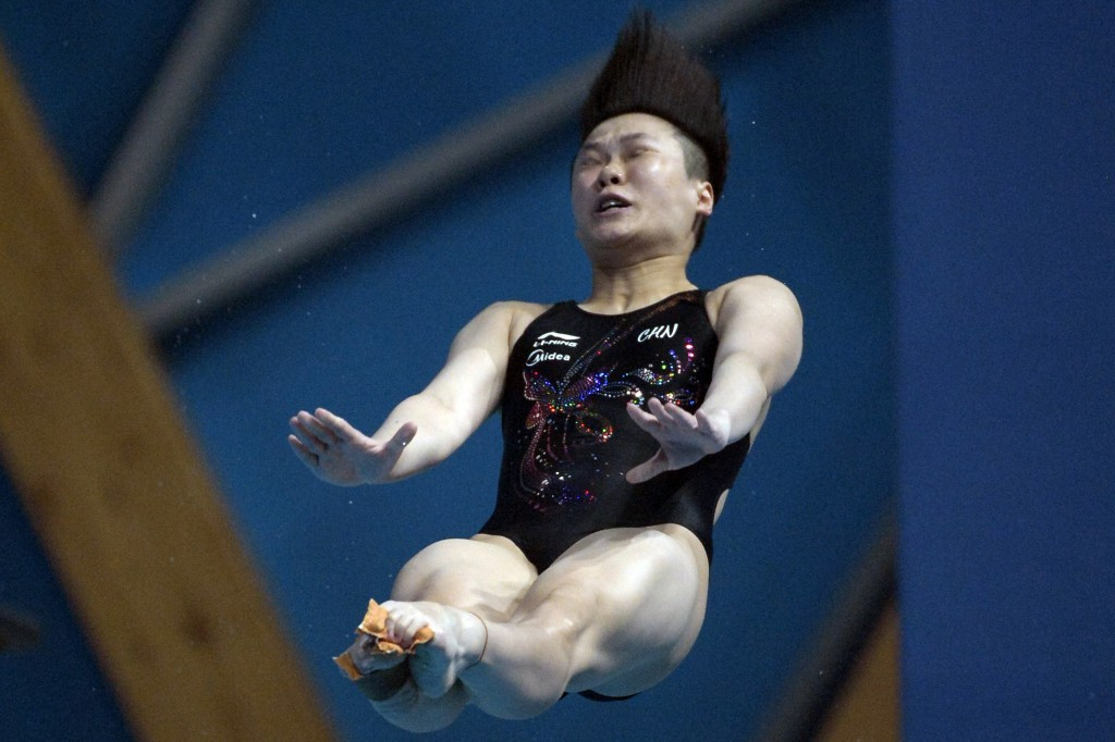 Tingmao Shi continued China's domination of diving events with gold in the women's 3m springboard