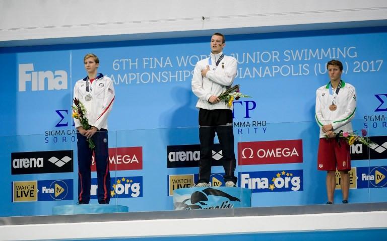 Johannes Hintze was in world record breaking form ©FINA